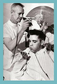 Elvis Presley and his army haircut