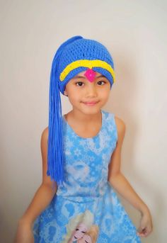 Shimmer and shine crochet wig hat twin genies hatcharacter Crochet Baby Hats, Crochet For Kids, Knit Crochet, Shimmer Y Shine, Crochet Character Hats, Wig Hat, Crazy Hats, Knitting For Beginners, Tricot