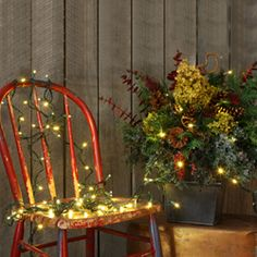 front porch decorations...cute way to decorate an old chair