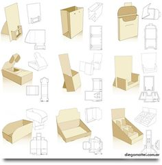 253 free display and packaging templates.