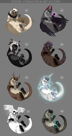 Otters - character and art auction OPEN by akreon on deviantART