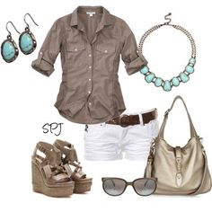 Lovely Casual Outfit for Summer -love this but lets be honest, I'd wear jeans. as a mom I avoid wearing white.