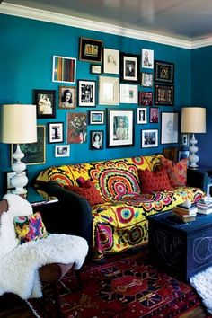 Bohemian Art | BOHEMIAN HOME / bold color, mixed prints, layered art