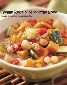 Meatless Monday with Vegan Rockin' Moroccan Stew http://www.miratelinc.com/blog/meatless-monday-with-vegan-rockin-moroccan-stew/