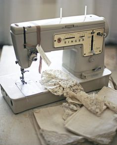 This is the first sewing machine I ever had.  My mom gave it to me for my eight grade graduation and she got it from saving S  green stamps.