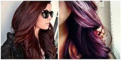 Burgundy and plum hair color. I can't decide which I like better.