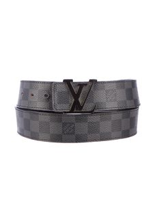 Louis Vuitton Damier Graphite Belt.