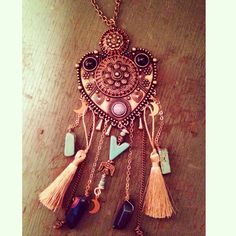 The Queen of Saigon Necklace by The Gypsy Fawn on Etsy. #thegypsyfawn #bohemian #queenofsaigon #ldr #ooak #native