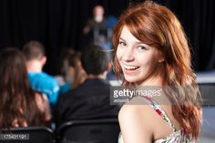 Stockfoto : Student smiling during school event