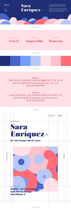 Fast Expo Sara Enríquez on Behance / branding design inspiration / graphic design / color palette