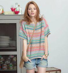 【海外】長編みだけでもお洒落なセーター : Crochet with Ricky