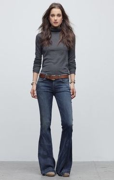 Casual cool Super Flare Jeans, Hippies, Citizens Of Humanity, Bell Bottom Jeans, Denim, Chic, Creative, Pants, Ideas