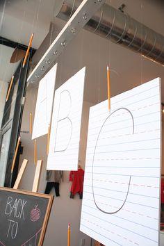 Recent Project: mini mioche Back to School Window | recreative works blog