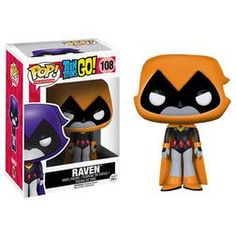 Usually stoic, serious, and brooding with a preference for a solitary lifestyle, Raven is often caught in the antics of her teammates and is commonly seen as the levelheaded and voice of reason among them. Don't miss out on adding this Orange variant Raven Pop! to your Teen Titans Go! Collection.