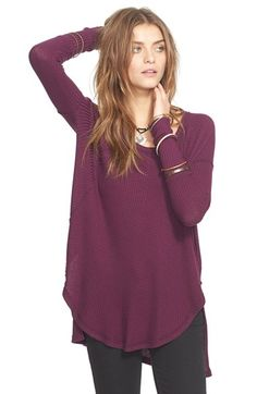 Free People 'Ventura' High/Low Thermal Top available at #Nordstrom