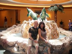Paul and I under the dolphins. :)