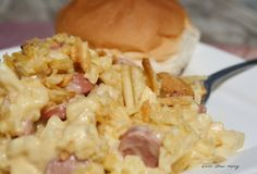 T-Boys Hot Dog Casserole (use tots instead of hash brown cubes)