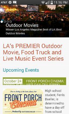 Eat see hear outdoor cinema