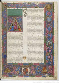 Titre :  Claudius Ptolomaeus , Cosmographia, Jacobus Angelus interpres.  Date d'édition :  1451-1500  Latin 4802  Folio 2r