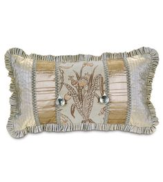 Hepburn Insert Collage W/ruffle from Eastern Accents Ruffle Pillow, Eastern Accents, Luxury Bedding Collections, Custom Windows, Window Treatments, Home Accessories, Renaissance, Decorative Pillows, Duvet Covers
