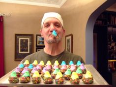 MarshMallow Peeps dipped in Milk Chocolate with jimmies....sweet! Happy Easter, Happy Spring <3 Chuck @ BearNakedBaker Cookies