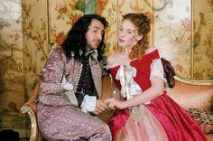 Molière ou le comédien malgré lui, starring Romain Duris is Molière, movie by Laurent Tirard - movie still here shows Edouard Baer and Ludivine Sagnier