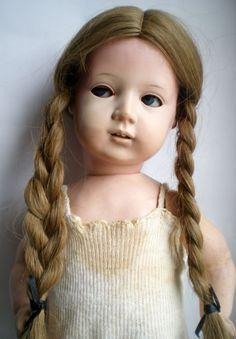 RARITÄT Seltene antike Schildkröt Klein Ella Puppe Originalkleid old german doll | eBay