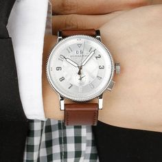 Original Burberry Mens Watch.  The leather band is perfect.