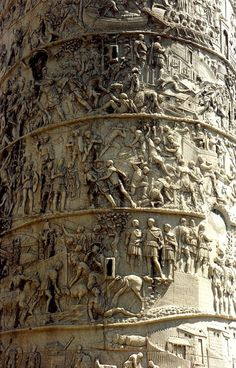 Detail of the Column of Trajan Trajan's Column was the first type of monument to be created in this style.