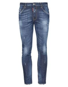 Denim Worn effect Faded Logo Solid color Medium wash Mid rise Front closure Button closing Multipockets Stretch Denim Pants Mens, Jeans Pants, Tapered Trousers, Jeans Bleu, Black Trousers, Dark Wash Jeans, Skinny Pants, Dsquared2, Sportswear