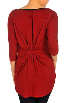 F3021508 Red Back #LadyDutch Fall Collections, Wrap Dress, Dresses For Work, Lady, Dutch, Pretty, Clothes, Tops, Fashion