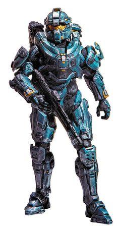 Figura Spartan Fred 15 cm. Halo 5. Serie 1. McFarlane Toys Si te gusta el videojuego Halo no te pierdas esta estupenda figura articulada de Spartan Fred de 15 cm, fabricada con material de PVC y de la Serie 1. Una figura con un correcto moldeado y pintado que podrá ser una buena pieza para tu colección del videojuego Halo 5.