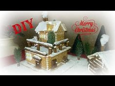 Biscuit Christmas house. Μπισκοτόσπιτο χριστουγεννιάτικο. - YouTube Fun Crafts, Diy And Crafts, Winter Time, Christmas Home, Gingerbread, Biscuits, Food And Drink, Merry, Oreos