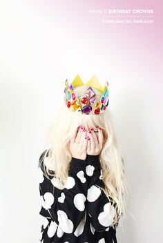 Grown up birthday crown... because hey! it's your day! ;-)