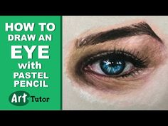 How to Draw an Eye with Pastel Pencils - YouTube
