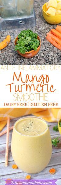 Dairy free orange mango turmeric smoothie for a quick healthy snack Mango Smoothie Healthy, Turmeric Smoothie, Smoothie Recipes, Orange Smoothie, Turmeric Health, Turmeric Tea, Green Smoothies, Drink Recipes, Quick Healthy Snacks