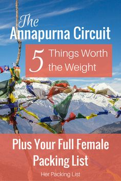 If you're a female looking to hike the Annapurna Circuit, I highly suggest reading these tips by Kimberly on what to pack and why!