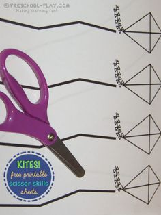 Download these free and fun cutting with scissors activity sheets. Straight line, curvy, and zigzag lines.
