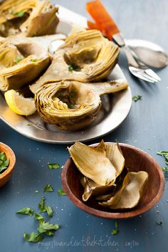 Oven Braised Artichokes with Garlic and Thyme via @Sylvie | Gourmande in the Kitchen