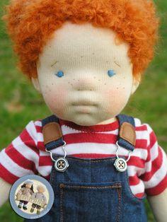 Petra - waldorf inspired doll by Lalinda.pl