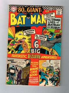 BATMAN #182 Grade 6.0 Silver Age find! 80-page Giant from DC Comics! http://r.ebay.com/Eawo35