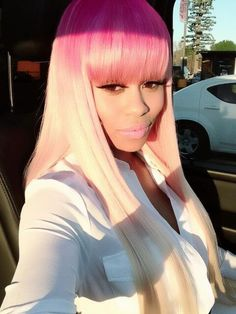Pink & Blonde Ombre = a different type of FUN Hair Model: Blac Chyna |All BLONDIES Access| Pinterest: @PaigeCamillia