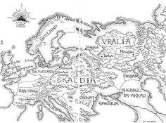 Jacqueline Carey, Kushiel's World map 2.