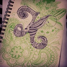 "A better ""K"" #doodle #zentangle #alphabet"