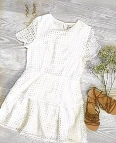 "La Conejita Dress by Brisbane Fashion Label ""Jamie, My Love"". #boho #summer #fashion #flatlay #billini #sandals #babysbreath # flowers #summeroutfit #casualoutfit #white #whitedress #outfitideas #howtoflatlay #iphonephoto"