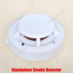 Independant Standalone Fire Alarm Cigarette Smoke Detector Home Office Smoke Sensor Alarm Warn Safety Siren Sensor w/ 9V Battery