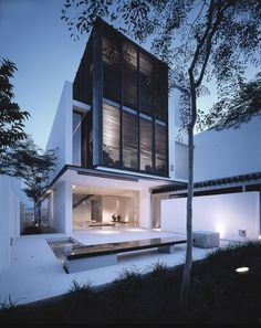 "Image 12 of 49 from gallery of Soo Chan: ""Architecture is About Preserving a Way of Life, Not Simply Introducing a New Formal Language"". East Coast House, Singapore, Image Courtesy of SCDA Architects Architecture Durable, Residential Architecture, Amazing Architecture, Contemporary Architecture, Interior Architecture, Design Exterior, Facade Design, Modern Exterior, Arch House"