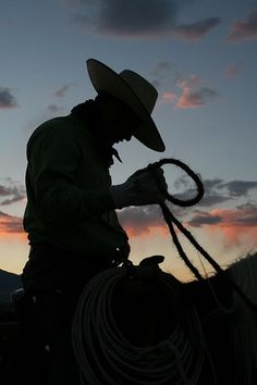 Wind in the Willows Ranch. Long day in the Saddle. Cowboy Silhouette.