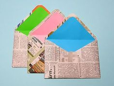 Originellen Briefumschlag basteln The Effective Pictures We Offer You About DIY Stationery items A q Diy Stationery Storage, Diy Stationery Paper, Stationery Items, Diy Crafts Recycled Materials, Upcycled Crafts, Fun Crafts, Diy And Crafts, Crafts For Kids, Papier Diy