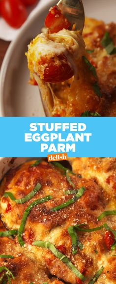 Stuffed Eggplant Parm will make you want to actually eat vegetables. Get the recipe at Delish.com.